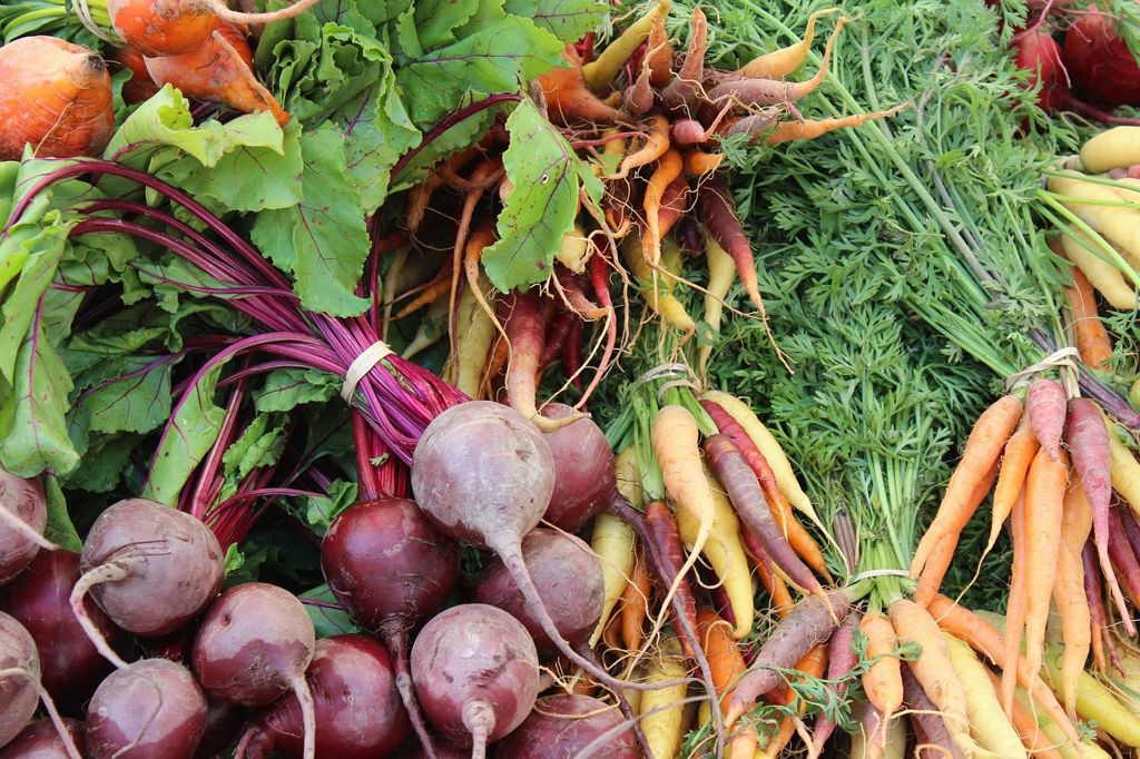local beets and carrots